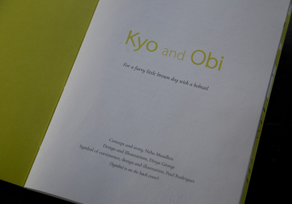 Title Page - Kyo and Obi. Concept and Story - Neha Mundhra. Design and Illustrations - Divya George