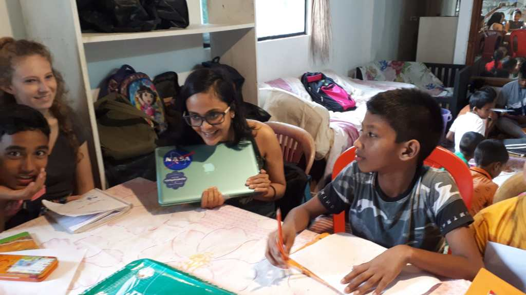 Exploring concepts at Live Happy, a community NGO in Goa (India),  July 2020